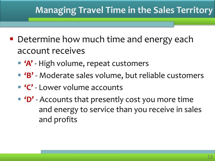 Managing Travel Time in the Sales Territory