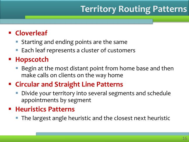 Territory Routing Patterns