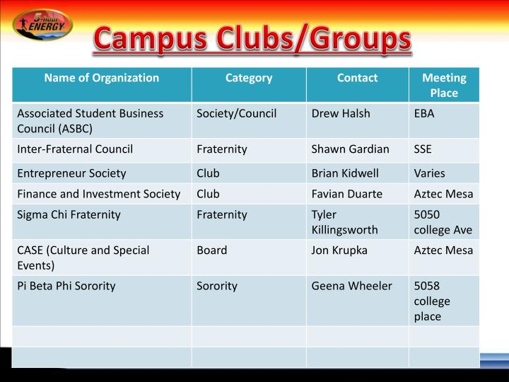 Campus Clubs/Groups