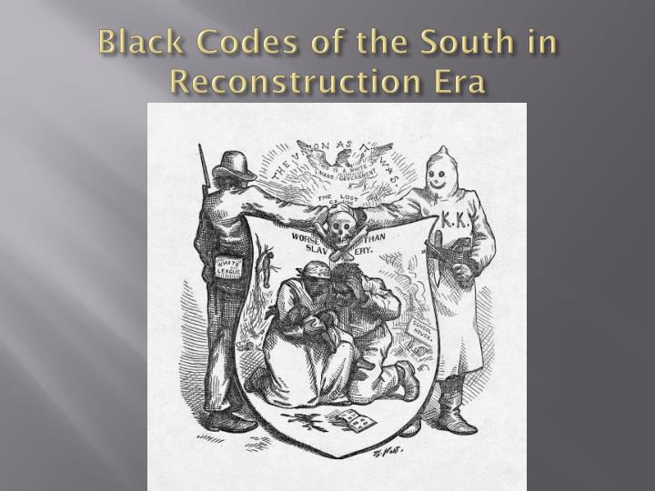 an analysis of the reconstruction era and the blacks Disenfranchisement after the reconstruction era in the united states of america was based on a series of laws, new constitutions, and practices in the south that were deliberately used to.