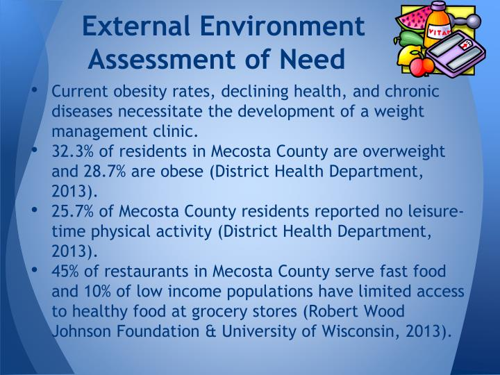 External environment assessment of need