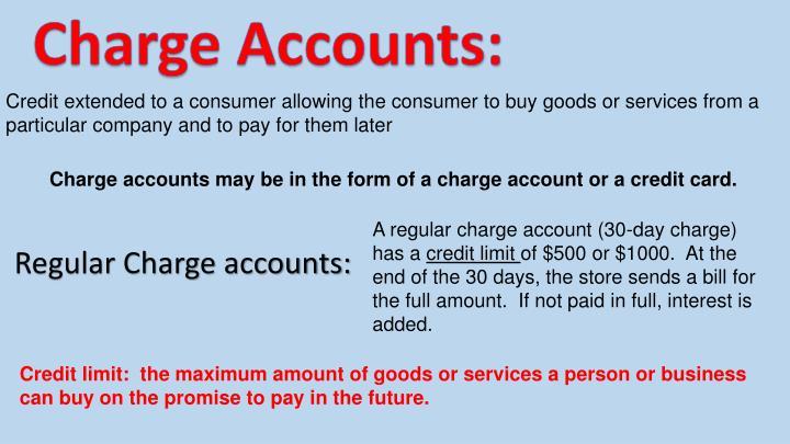 Charge Accounts: