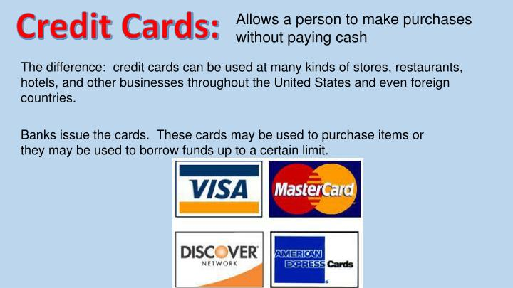 Credit Cards: