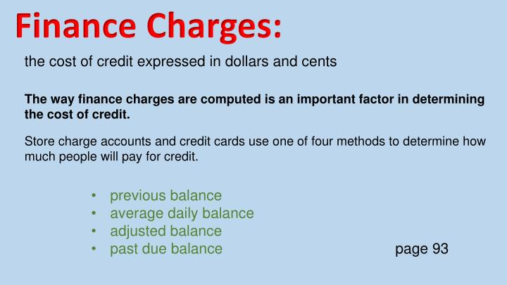 Finance Charges: