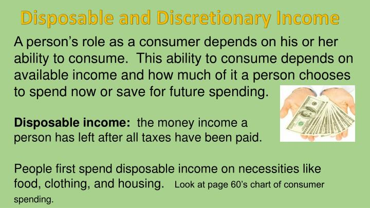 Disposable and Discretionary Income
