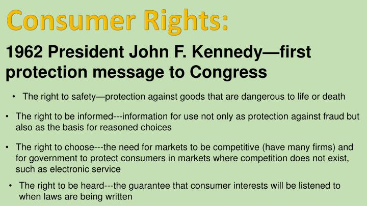 Consumer Rights: