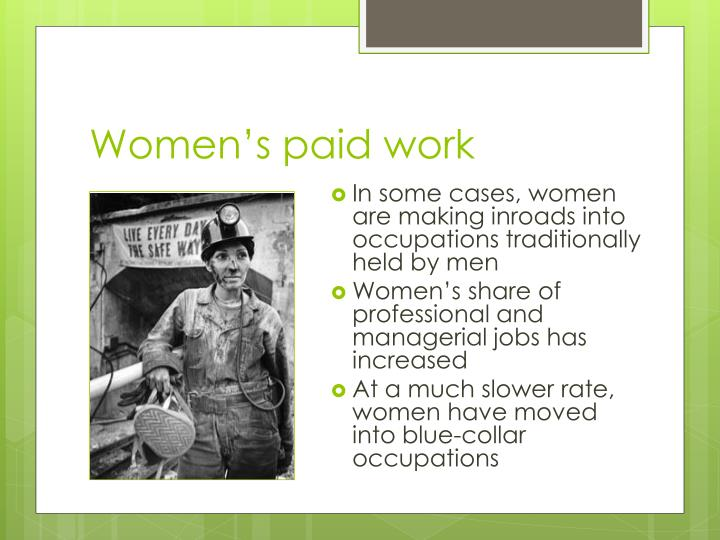 Women's paid work