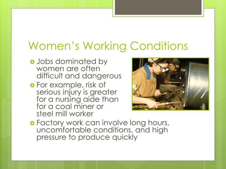 Women's Working Conditions