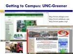 getting to campus unc greener
