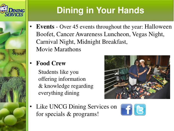 Dining in Your Hands