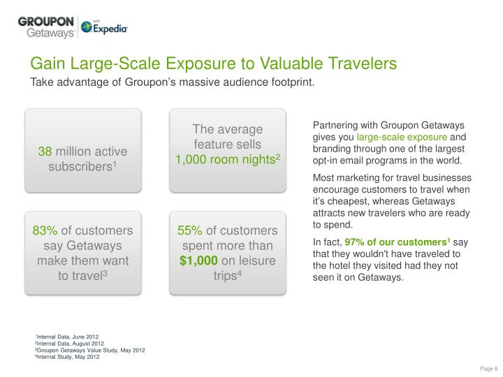 Gain Large-Scale Exposure to Valuable Travelers