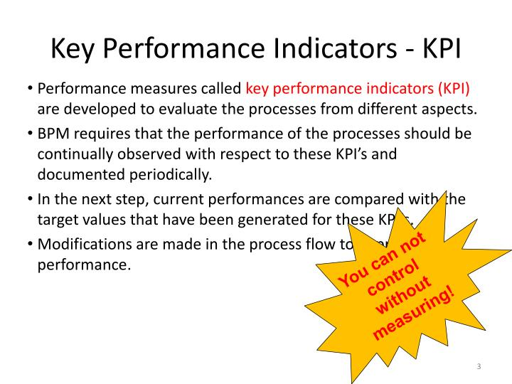Key performance indicators kpi