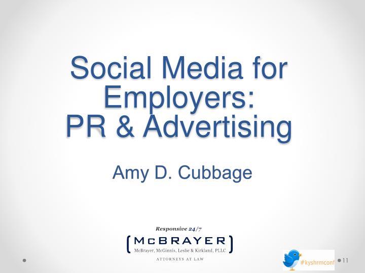 Social Media for Employers:
