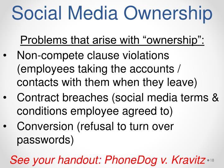 Social Media Ownership