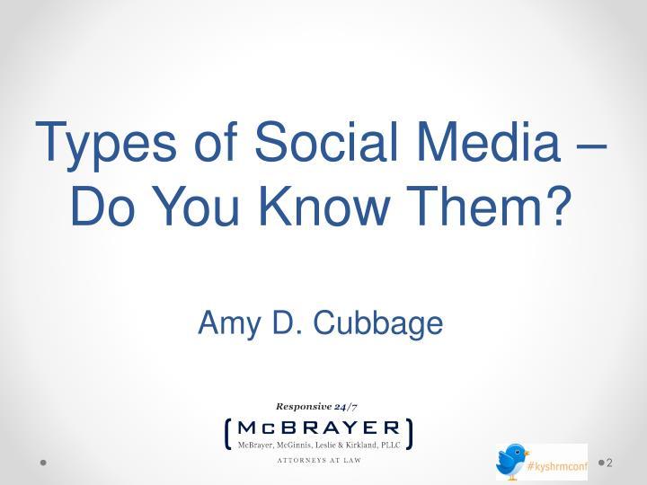 Types of Social Media –