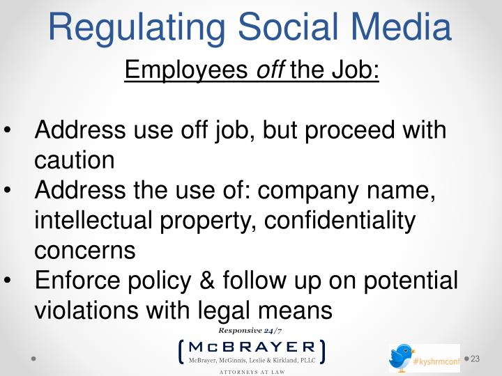 Regulating Social Media