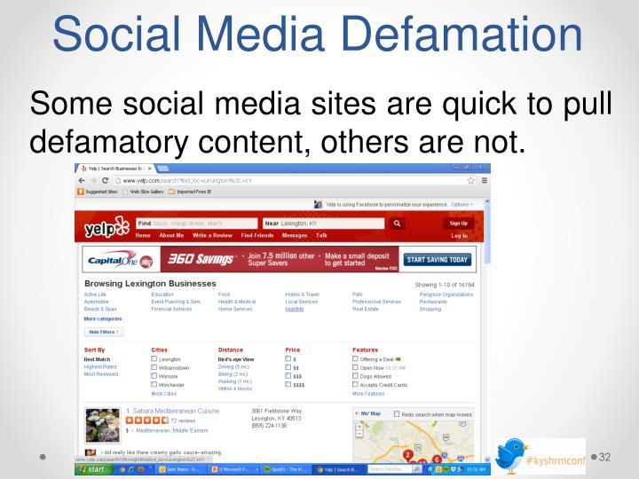 Social Media Defamation