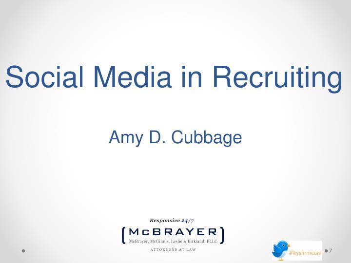 Social Media in Recruiting