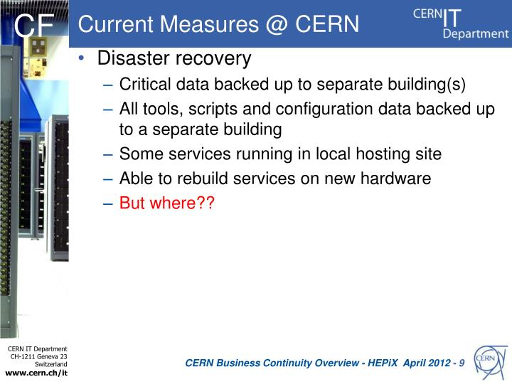 Current Measures @ CERN