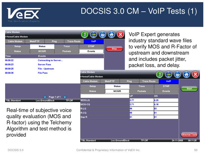 DOCSIS 3.0 CM – VoIP Tests (1)