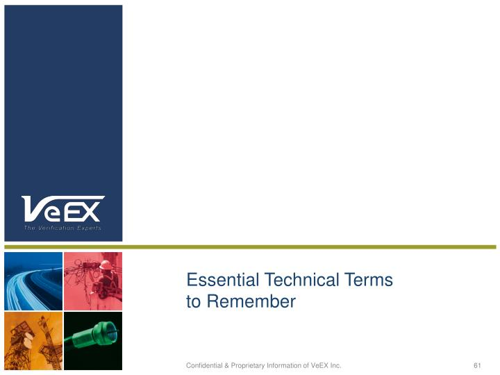 Essential Technical Terms to Remember