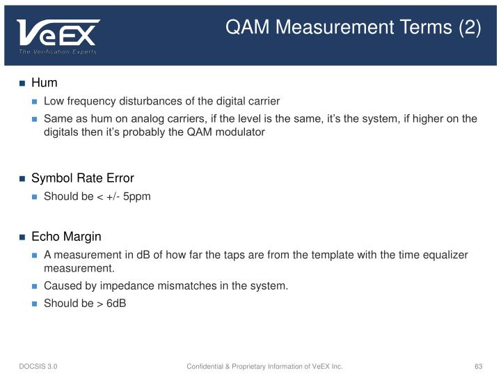 QAM Measurement Terms (2)