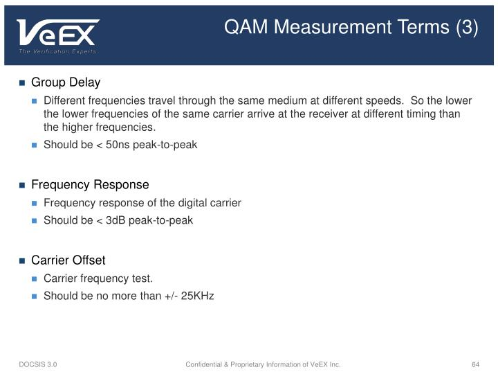 QAM Measurement Terms (3)