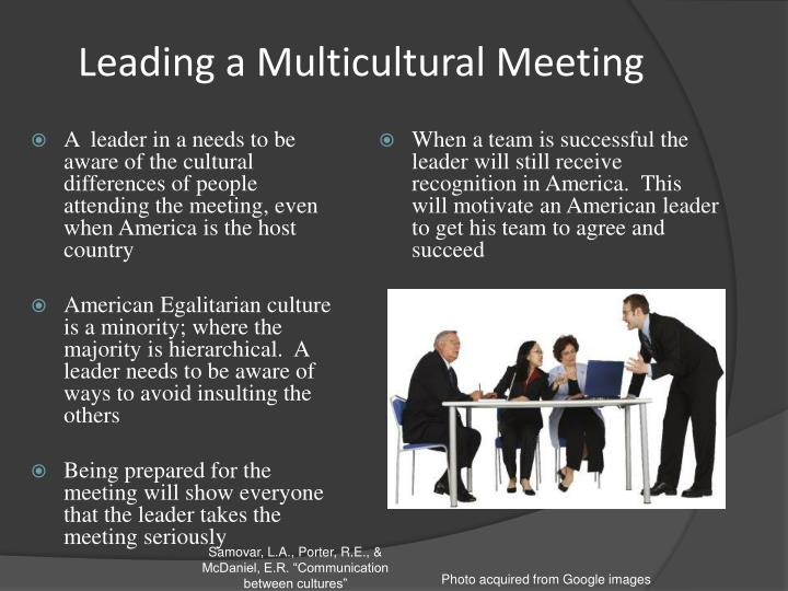 Leading a Multicultural Meeting