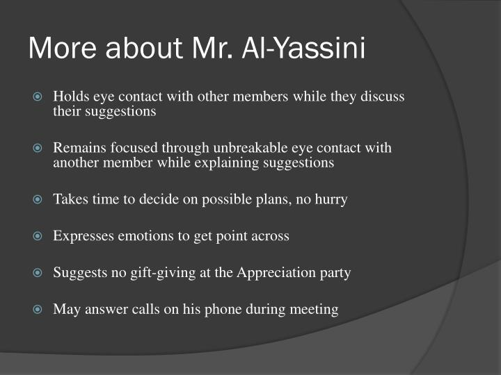 More about Mr. Al-