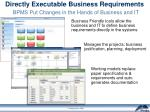 directly executable business requirements