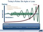 today s rules be agile or lose