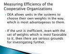 measuring efficiency of the cooperative organizations1
