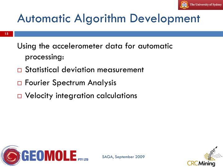 Automatic Algorithm Development