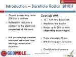 introduction borehole radar bhr