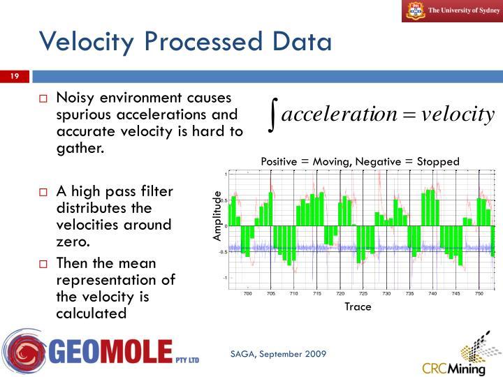 Velocity Processed Data