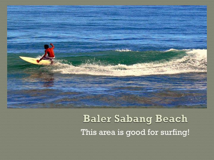 Baler Sabang Beach