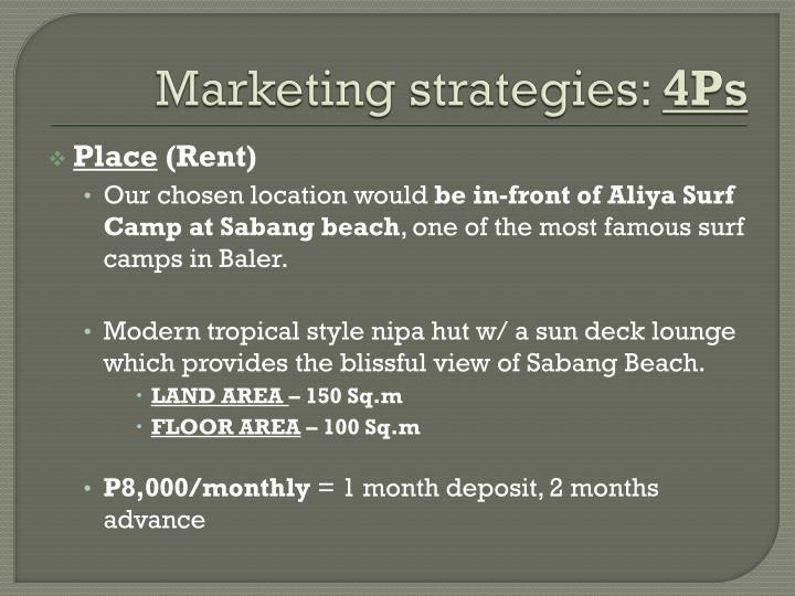 Marketing strategies: