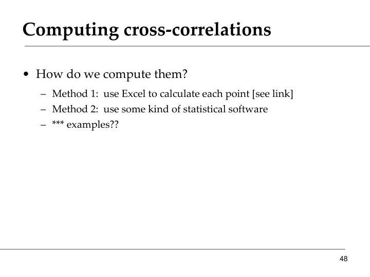 Computing cross-correlations