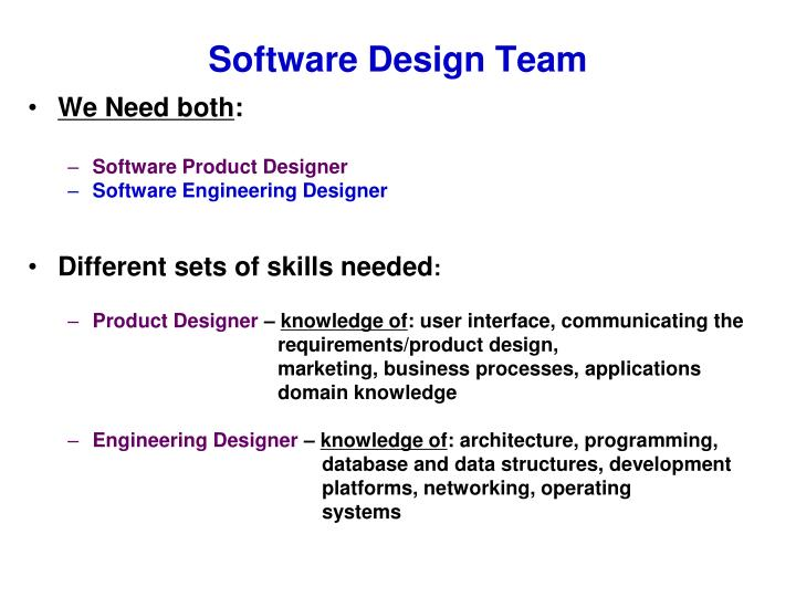 Software Design Team