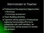 administrator to teacher