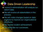 data driven leadership