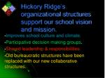 hickory ridge s organizational structures support our school vision and mission