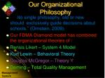 our organizational philosophy