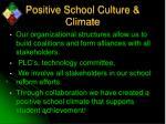 positive school culture climate