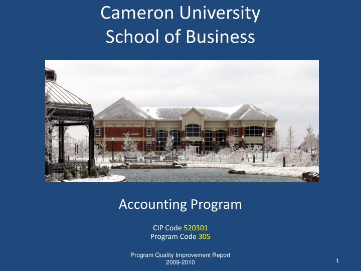 Cameron university school of business