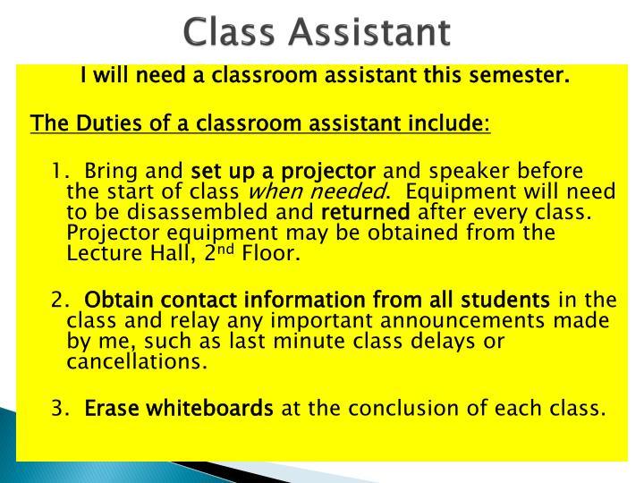Class Assistant