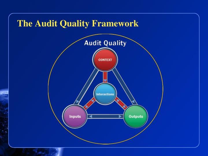 The Audit Quality Framework