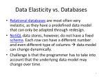 data elasticity vs databases
