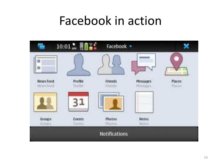 Facebook in action