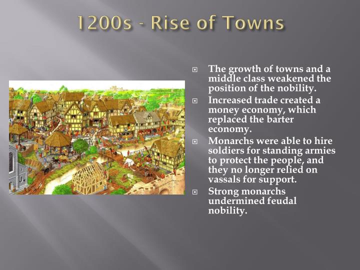 1200s - Rise of Towns